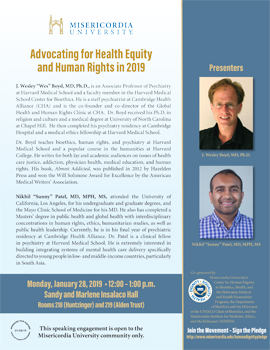 Advocating for Health Equity and Human Rights in 2019 flyer