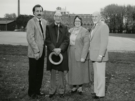 Sr. Mary Glennon at the Anderson Sports Center groundbreaking in 1992